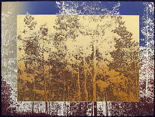 "Paula Crane ""Afterglow"" Hand Signed & Numbered Etching, Landscape Forest Trees"