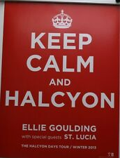 ELLIE GOULDING KEEP CALM AND HALCYON 18x24 RARE POSTER PRINT 2012