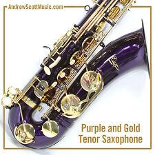 New Purple Tenor Saxophone in Case - Masterpiece