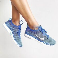 WOMENS NIKE AIR ZOOM FEARLESS FLYKNIT SIZE 4 EUR 37.5 (850426 400) BLUE/WHITE