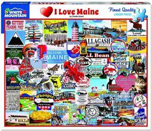 I Love Maine 1000 piece jigsaw puzzle 760mm x 610mm (wmp)