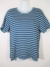 Millers Women's Size 16 Top, Striped t shirt blouse stretch blue glitter A4