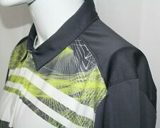 OAKLEY Men's XL Regular Fit Gray w/ Neon Green Polyester Golf Polo Shirt