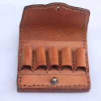 Real Leather .38/.357 Pistol Ammo Pouch Cartridges Case Carry 5 Shells-Clearance