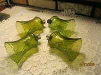 """HOMCO SET OF 4 GREEN VOTIVE CUPS 5"""""""