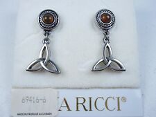 Earrings with Enamel 0790 Nina Ricci Rhodium Plated Pierced