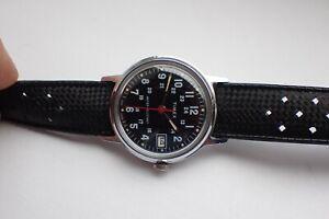 Vintage Timex 24hr Military 1978 birth year Style British Made Just Service VGC