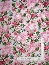 Ballet Theatre Pink Rose Pearl Floral Romance Cotton Fabric Kanvas Studio Yard