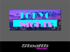 Tokyo Nights Drift Slap Sticker Decal, Stance, Initial D