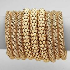 "3.75"" wide gold wrap coil snake bracelet bangle cuff"