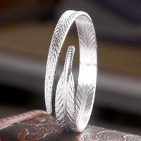Bracelet Plume Bracelet Manchette Réglable Bijoux Ethniques Pour Femme