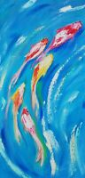 Oil original painting on canvas size 20x10 inches