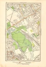 1923 LONDON STREET MAP - WALTHAMSTOW, HACKNEY MARSHES,LEYTON, HACKNEY WICK