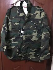 Hunting M65 Field Jacket Woodland Camo Colour Military Combat Style Size XLarge