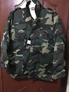 Hunting M65 Field Jacket Woodland Camo Colour Military Combat Style Size 2XL