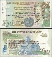 Guernsey,50 Pounds,P59,UNC,Trestian,Prefix A @ EBS