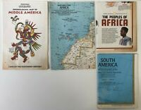 Lot of 4 Vintage Nat Geographic Maps 2 Africa, S. America, Arch. Middle America