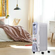 Home Electric Oil-filled Radiator 1500w Heat Power 3 Heat Setting Heater Indoor
