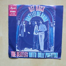 """THE BEATLES Get Back / Don't Let Me Down German 7"""" in picture sleeve Apple 1969"""