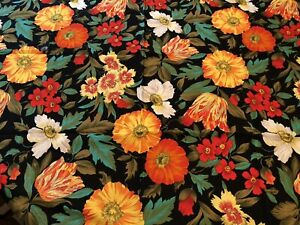 New Handmade Farmhouse 45 x 40 Table Topper Tulip Poppies Bright Flowers