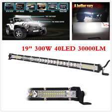 1Pcs 19in 300W Single Row LED Lights Bar Super Slim Combo Off Road 4WD Driving