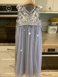 Girls Monsoon Lavender Floral Lace Maxi Dress Party/Bridesmaid  10 years