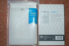 NEW Official Kobo silicon sleeve transparent White with Diamond emboss