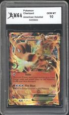 2014 Pokemon Card Charizard HOLOGRAPHIC HOLO FOIL GRADED GEM MINT 10 RARE! GO 29