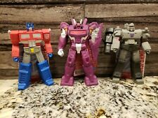 TRANSFORMERS  OPTIMUS PRIME & SHOCKWAVE & MEGATRON LOT OF 3 NEW