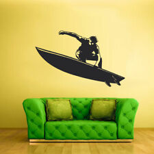 Wall Vinyl Sticker Decal Surfer Surf Board Ocean Water Wave Sport Beach (Z2356)