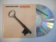 AGES AND AGES : DIVISIONARY ( DO THE RIGHT THING ) [ CD ACETATE PORT GRATUIT ]