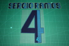 Real Madrid 12/13 #4 SERGIO RAMOS Homekit Nameset Printing