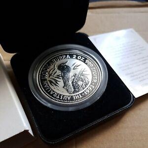 Australia kookaburra 2oz speciman Silver Proof Coin 1993 whale privy Mark.
