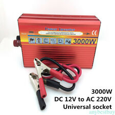 3000Watt Car Power Inverter Converter Adapter DC12V to AC220V Modified Sine Wave