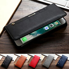 Luxury Leather Wallet Card Stand Back Case Cover For Apple iPhone X 8 7 6S Plus