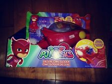 PJ Masks DELUXE OWL GLIDER and Owlette Figure Lights and Sounds NEW