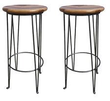 2x Barhocker Boston Barstuhl Bistrohocker Industrial Design Bar Stuhl Hocker Set