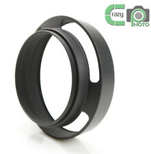 37mm Black Metal Tilted Vented Lens Hood for Sony Leica Canon NEX Fuji Pentax