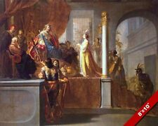 QUEEN OF SHEBA BEFORE KING SOLOMON PAINTING OLD TESTAMENT BIBLE ART CANVAS PRINT
