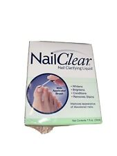 Nail Clear Nail Clarifying Liquid Whitens, Brightens, Conditions & Removes Stain