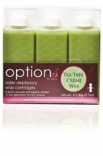 Hive Of Beauty Waxing Tea Tree Creme Wax Roller Cartridge Hair Removal 80g 6 Pk