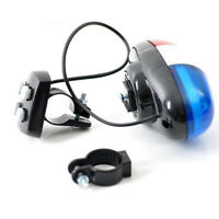 4 Sounds Bike Bicycle Police Siren Trumpet Horn Bell 6 LED Rear Light #HN