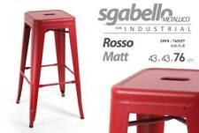 SGABELLO METALLICO SERIE INDUSTRIAL ROSSO MATT 43*43*76 CM TOLIX ONN-743337