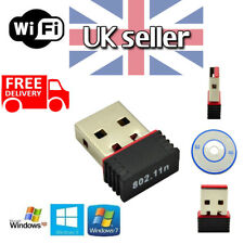 Smart Mini USB WiFi Dongle 802.11 Wireless Network Adapter for Laptop PC UK.