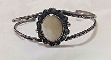 Native American RB Sterling Silver Mother-of-pearl Barcelet