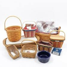 Longaberger Independence Day Handwoven Baskets! Large Lot! Must Have!