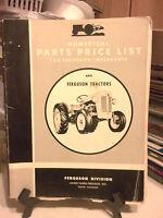1955 Ferguson Repair Parts Price List for Ferguson Tractors & Implements