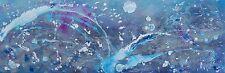 """Original Rachel Excelente McCullock abstracto """"Neptuno Luna"""" Pintura Moderna"""