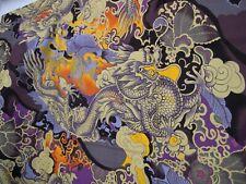 "1 Yard Piece ""Tatsu"" by Alexander Henry Fabrics Dragon Design 100% Cotton"