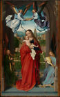 VIRGIN AND CHILD WITH FOUR ANGELS, 13 x 19 FINE ART GICLEE PRINT madonna st mary